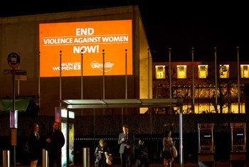 Pinta tu barrio de naranja. Foto: ONU Mujeres/Ryan Brown