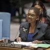 副秘书长阿莫斯在安理会有关伊拉克问题的会议上做情况通报。联合国图片/Loey Felipe