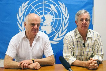 Anthony Banbury, Head of the UN Mission for Ebola Emergency Response (UNMEER) and Dr. David Nabarro, Special Envoy on Ebola, at a joint interview.
