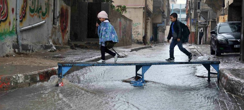 Inondations à Gaza.