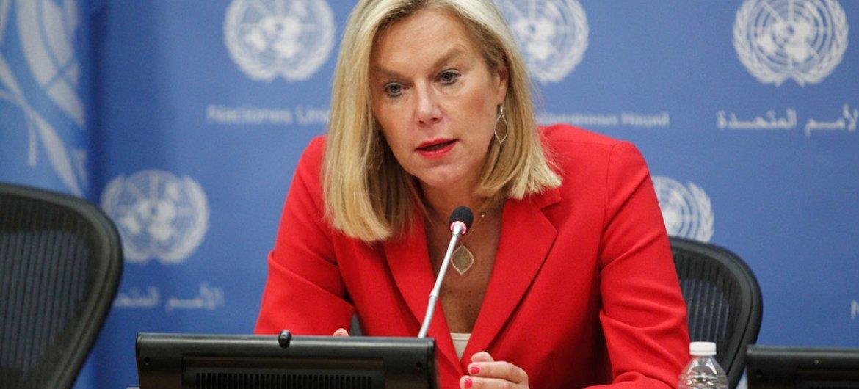 Coordinadora especial de la ONU para Líbano, Sigrid Kaag. Foto de archivo: ONU/Loey Felipe