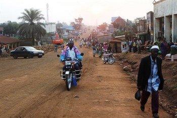 The main road in Beni, eastern Democratic Republic of the Congo (DRC).