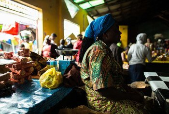 With the cost of transport and goods going up and sales going down since the Ebola outbreak, vendors in Waterside Market, Monrovia, Liberia, are making no profit to support their families.