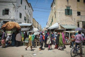 Mogadíscio, capital da Somália.