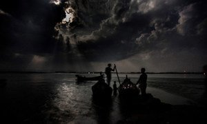 People risking sea journeys across the Bay of Bengal often set sail at night.