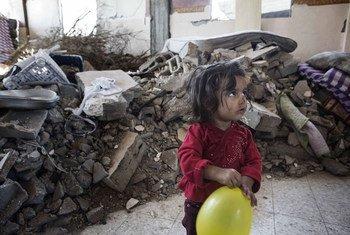 Около  400  тысяч детей в Газе  страдают  от психологического  стресса  в результате  конфликта в 2014 году. Фото ЮНИСЕФ