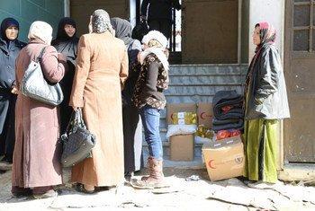 Un centre de distribution du PAM à Damas, en Syrie. Photo PAM