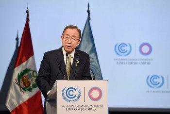 潘基文秘书长资料图片。联合国/Mark Garten