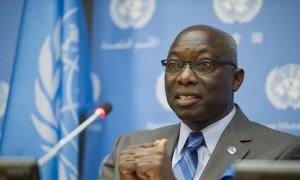 Special Adviser on the Prevention of Genocide Adama Dieng briefs the press.