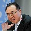 Directeur de la Division de l'analyse des politiques de développement du Département des affaires économiques et sociales de l'ONU, Pingfan Hong.