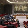 Wide view of the Security Council Chamber.