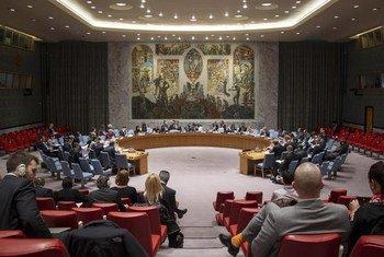 Vue d'ensemble de la salle du Conseil de Sécurité de l'ONU. Photo : ONU/Loey Felipe