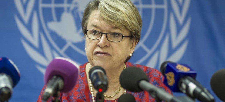 La Représentante spéciale du Secrétaire général au Soudan du Sud, Ellen Margrethe Loj. Photo ONU/Isaac Gideon