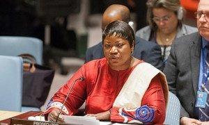 ICC Prosecutor Fatou Bensouda briefs the Security Council.