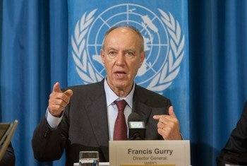WIPO Director General Francis Gurry presents the World Intellectual Property Indicators 2014 at a press conference in Geneva.