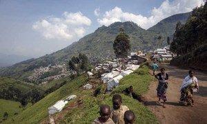 Des personnes déplacées par la violence dans la région de Beni en 2014. ARCHIVES.