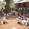 A group of internally displaced people at Yakole in Central African Republic.