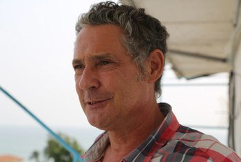 United Nations humanitarian worker Chris Huddart, who is part of the WFP Ebola response.
