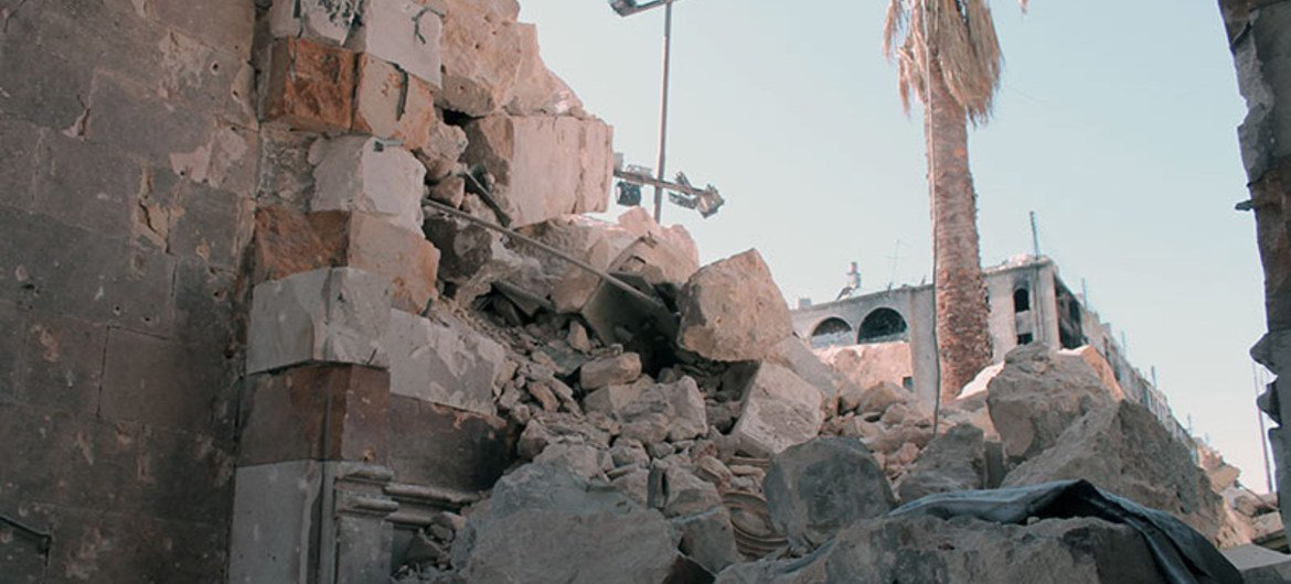 Syria: destruction of Aleppo's historical monuments.