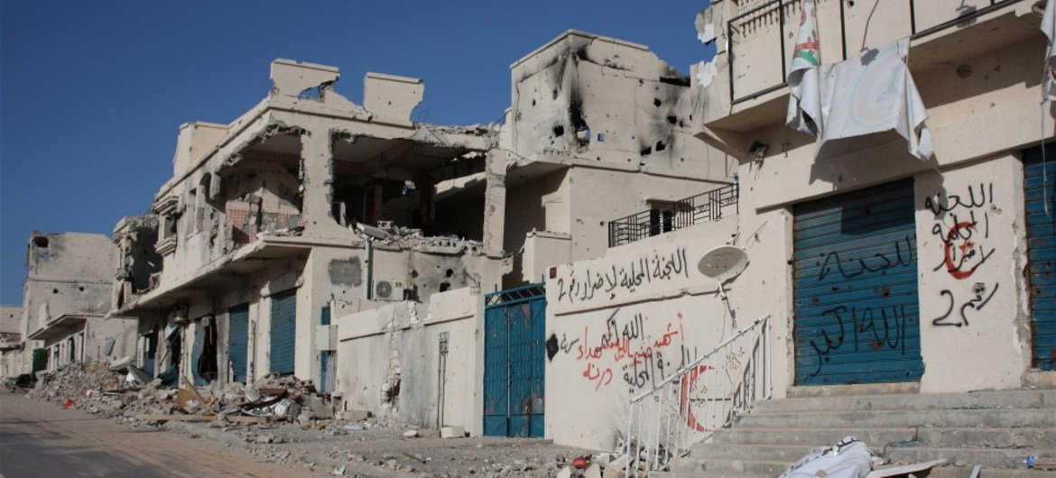 The streets of Sirte were the most heavily damaged after a nine-month war in 2011.