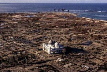 La région d'Aceh en Indonésie ravagée par le tsunami de 2004. Photo PAM/Rein Skullerud
