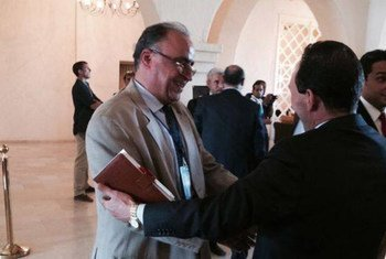 Deux parlementaires libyens à Ghadames, le 29 septembre 2014. Photo MANUL