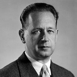 Portrait of former Secretary-General Dag Hammarskjöld.