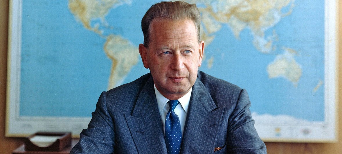 Dag Hammarskjöld. Foto de archivo: ONU/JO