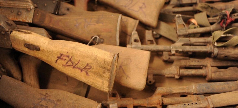 Des armes légères en République démocratique du Congo. Photo IRIN/Guy Oliver