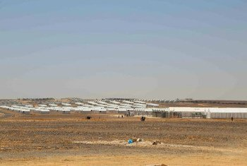 Azraq camp, located in the heart of Jordan's eastern desert.