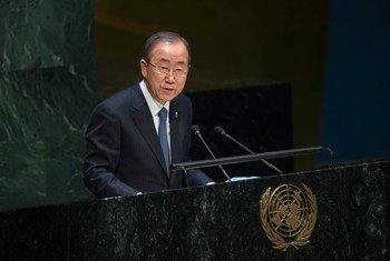 Ban Ki-moon en la Asamblea General. Foto: ONU