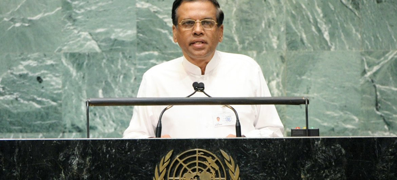 Incoming President Maithripala Sirisena of Sri Lanka.