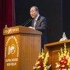 Secretary-General Ban Ki-moon addresses the Indian Council of World Affairs.