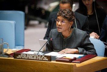 秘书长科特迪瓦事务特别代表明达乌杜(Aïchatou Mindaoudou Souleymane)。联合国图片/Loey Felipe
