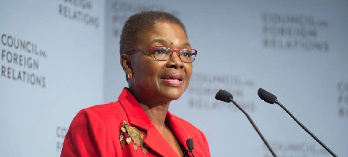 United Nations Emergency Relief Coordinator Valerie Amos delivers lecture at the Council on Foreign Relations.