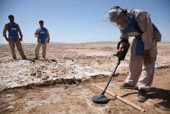 De-miners at work in Afghanistan.
