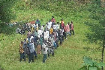 FDLR ex-combatants who voluntarily surrendered to MONUSCO.