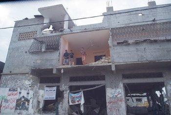 The aftermath of the devastating Gaza conflict in 2014.