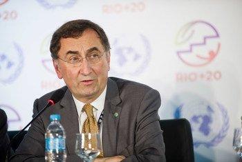 El secretario general adjunto de la ONU sobre cambio climático, Janos Pasztor. Foto ONU:Maria Elisa Franco.