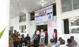 The Island clinic Ebola treatment unit in Liberia.