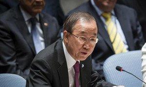 Le Secrétaire général des Nations Unies, Ban Ki-moon. Photo : ONU/Loey Felipe