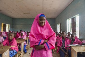 Las niñas constituyen un grupo muy vulnerable a los ataques del grupo islamista Boko Haram, en Nigeria. Foto: UNICEF/Eseibo