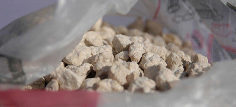 Alijo de heroína. Foto: UNODC