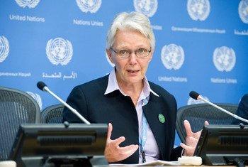 La directora de UNISDR, Margareta Wahlström. Foto de archivo ONU/Evan Schneider