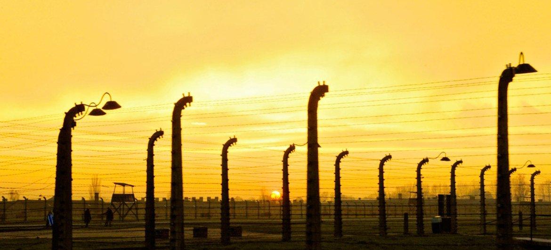 Le camp de concentration et d'extermination d'Auschwitz-Birkenau en Pologne. Photo ONU/Evan Schneider