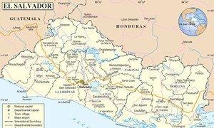 Map of El Salvador. Source: UN Cartographic Section