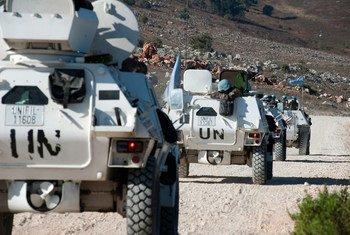 在联合国驻黎巴嫩临时部队执行任务的维和车队。联黎特派团图片/Pasqual Gorriz