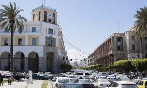 Traffic in Tripoli, Libya.