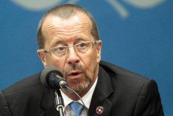 Martin Kobler, qui vient d'être nommé à la tête de la Mission d'appui des Nations Unies en Libye (MANUL), a occupé le poste de chef de la Mission de l'ONU en République démocratique du Congo (MONUSCO) de 2013 à novembre 2015. Photo : Radio Okapi/John Bompengo