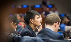 Participants of the 2015 ECOSOC Youth Forum.